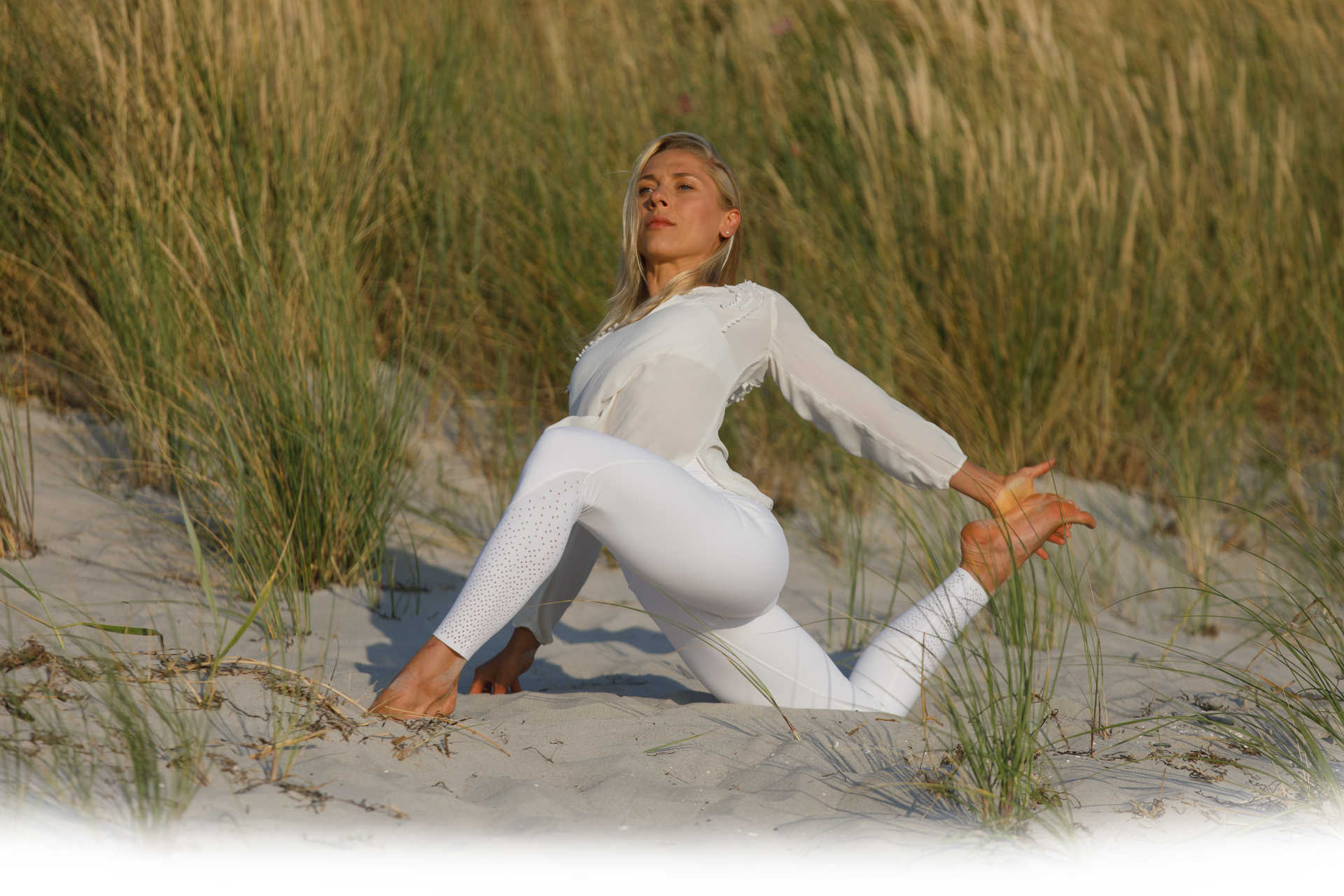 Marie Kliefert Business Yoga auf Hiddensee